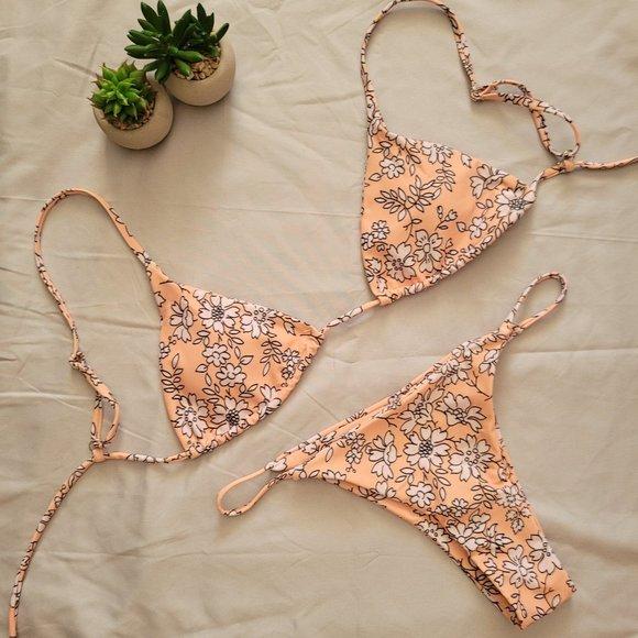 3/$30 ZAFUL Padded Floral String Bikini